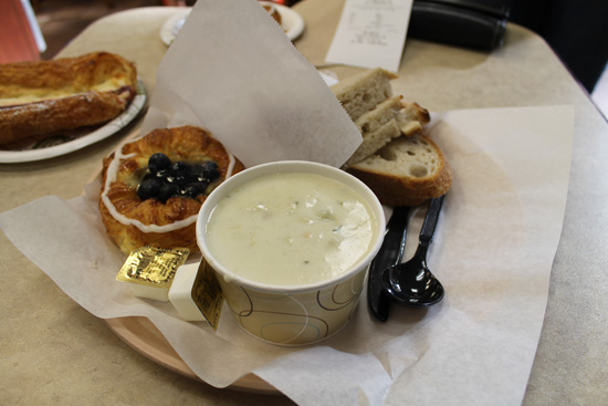Andersen Bakery sells everything from pastries to clam chowder to sandwiches.